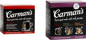 Carman's muesli bars and cereals