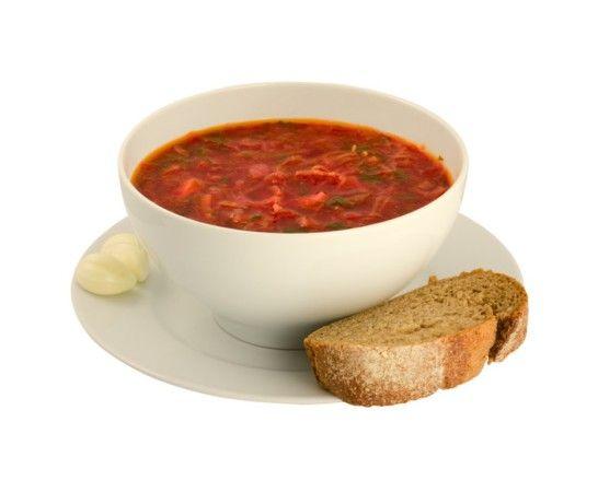 Vegetable soup with beans (Постный борщ с фасолью)