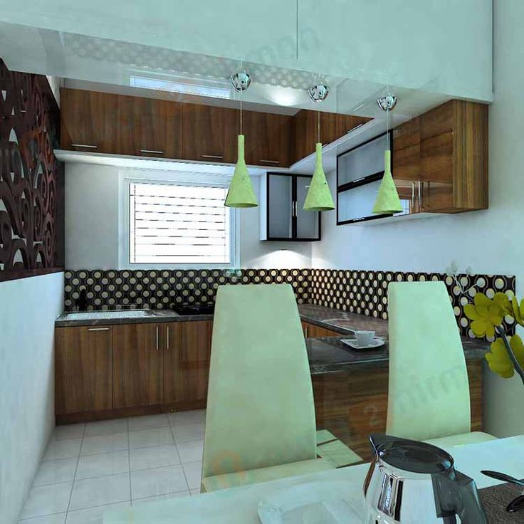 Simple #Kitchen #Interior #Design For 1BHK House