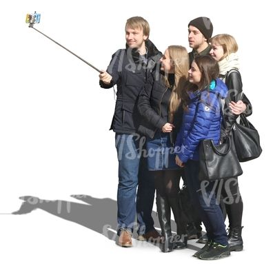 A group taking a selfie