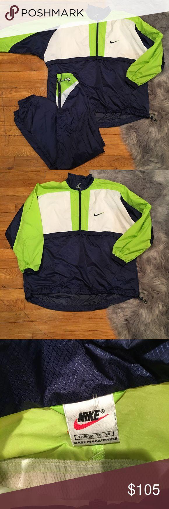 Men XL nike jogging suit sweatsuit jacket vintage Men XL nike jogging suit sweatsuit jacket pants Nike Jackets & Coats Performance Jackets