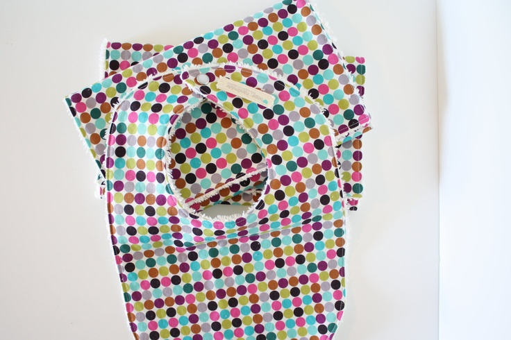 Burp Cloths and Bib Set - Baby Girl - Polka Dot. $23.00, via Etsy.  yep, supports adoption.