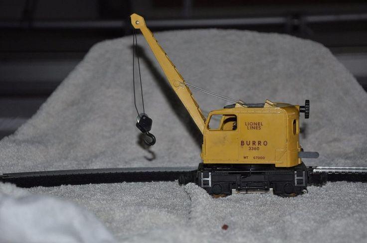Lionel 3360 Burro Crane Train Hard to Find #LIONEL
