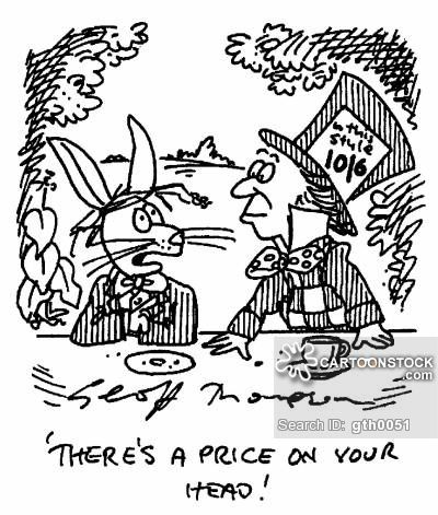 Mad Hatter Cartoons and Comics - funny pictures from CartoonStock
