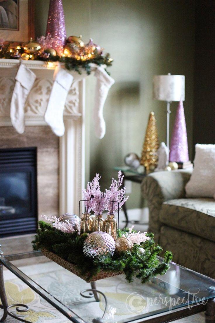 Christmas Home Tour Living Room Home Decor Christmas Rose Gold