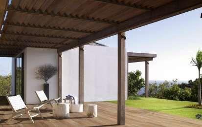 Pavimento in finto legno per esterni - Piastrelle di design