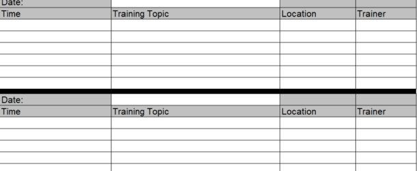 11 best Employee Training Schedule images on Pinterest Agenda - training schedule template