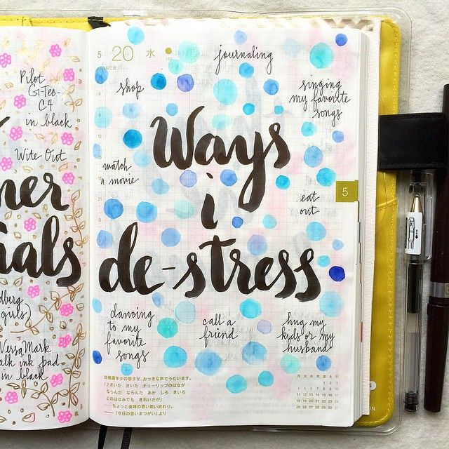 Day 20 of #listersgottalist: ways I de-stress #journal #artjournal #hobonichi…
