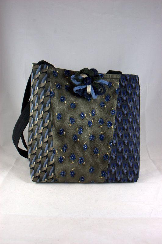 Handmade Upcycled Necktie Handbag by ArnicArt on Etsy, $68.00
