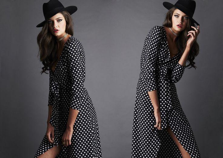 JULIA WRAP DRESS - Black #nookie #shesgotthelook #lovenookie