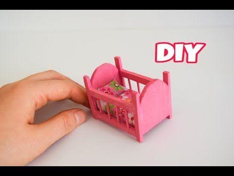 Minyatür Beşik Yapımı | Kendin Yap Barbie Eşyaları - YouTube