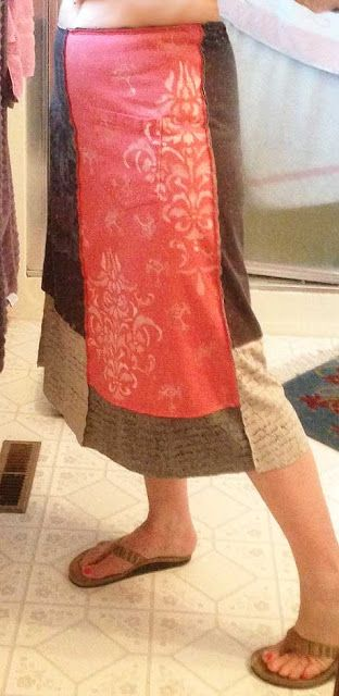 Judy Wise skirt from t-shirts