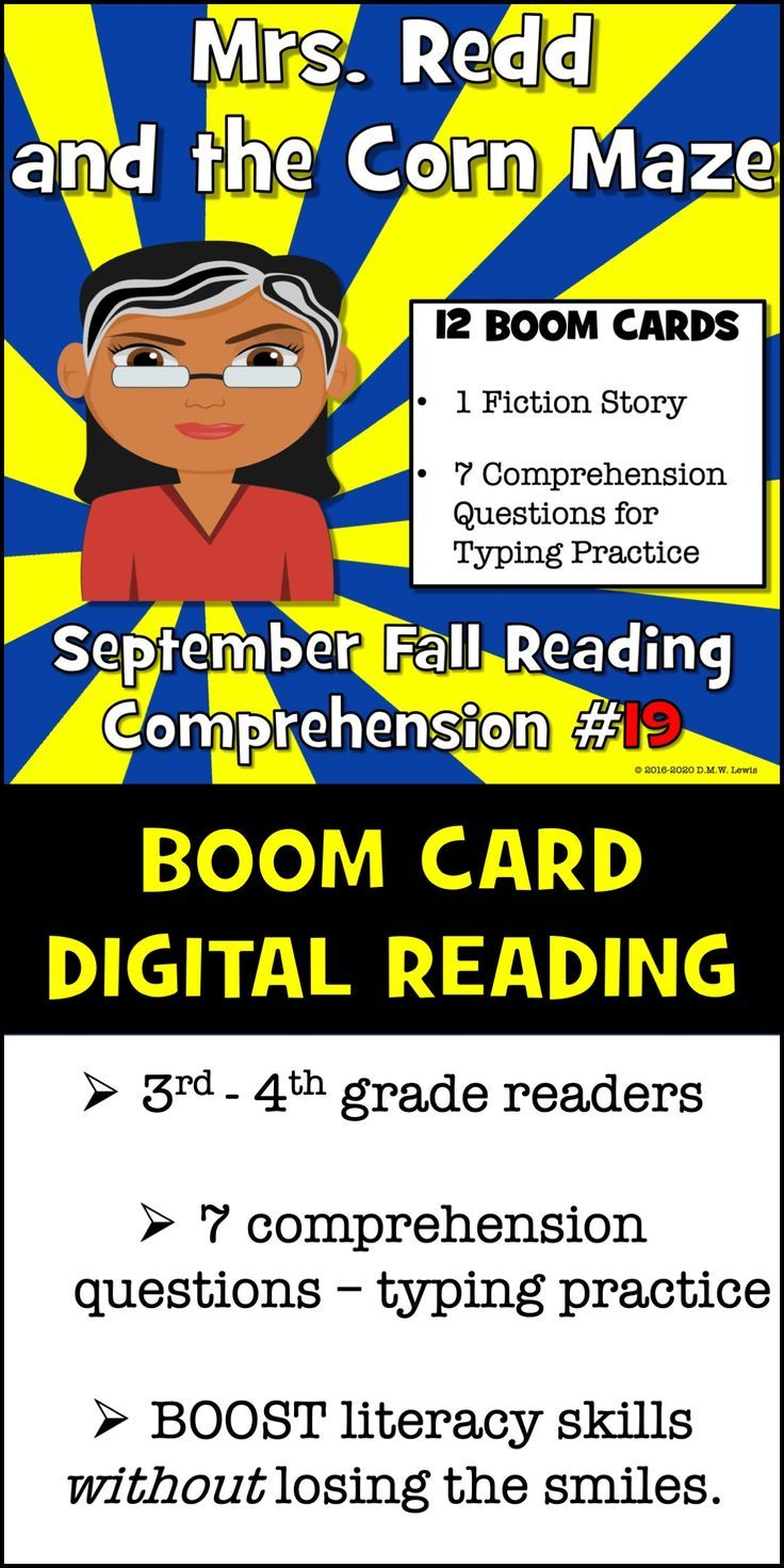 Corn Maze Reading Fall Reading September 19 Mrs Redd And The Corn Maze Fall Reading Comprehension Reading Comprehension Passages Fall Reading [ 1471 x 736 Pixel ]