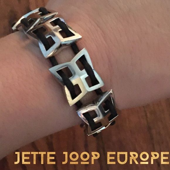 item❗️925 Silver And satin cord bracelet Love the Jette Joop stores in Europe. Great chunky silver pieces. Most unisex. Really unique and substantial. I have a matching ring I'll list when I find it. BNWOT. Bought in Düsseldorf Germany in 2005. Jette joop Jewelry Bracelets