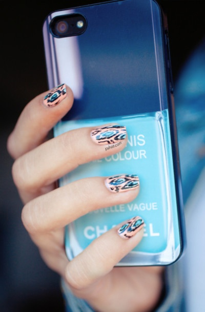 nail art and trends and iphone cases