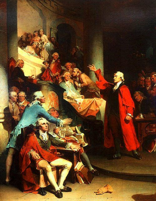 Patrick Henry's Speech in the House of Burgesses, painting by Peter Frederick Rothermel
