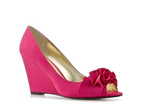 okay LOVE the color, love the ruffle toe, and I bet they would be super comfy since they are a wedge!  :)  and you could wear them again!  :)