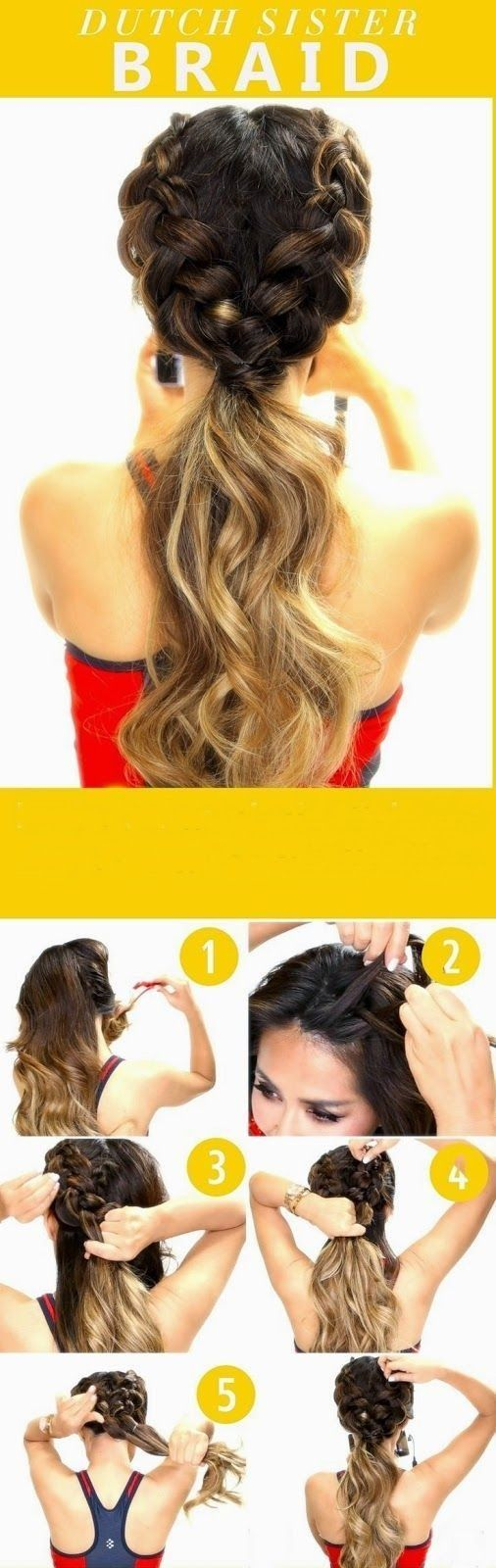 Summer Hairstyles for Girls with Long Hair - Braided Hairstyles with Ponytail