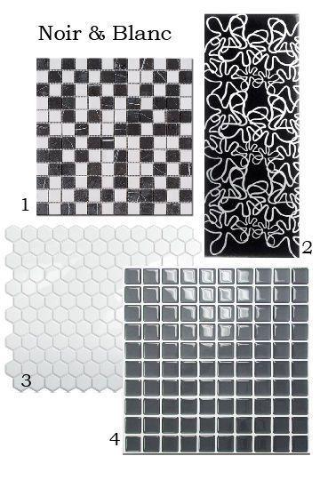 """Des carreaux adhésifs très graphiques. 3 - Carreau adhésif """"Hexago Blanco"""" en résine souple recouvert d'un gel translucide imitant le verre, 7,79 euros la plaque de 25 X 29 cm, Smart Tiles."""