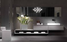 Wall-mounted cement vanity unit K.ONE | Cement vanity unit K.One Collection by RIFRA | design Byoung Soo Zocchi