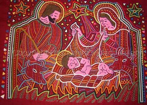 Nacimiento en mola panameña