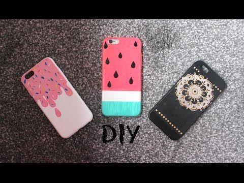 DIY: Colourful and easy summer phone case designs (Watermelon, Ice cream, Henna design) - YouTube