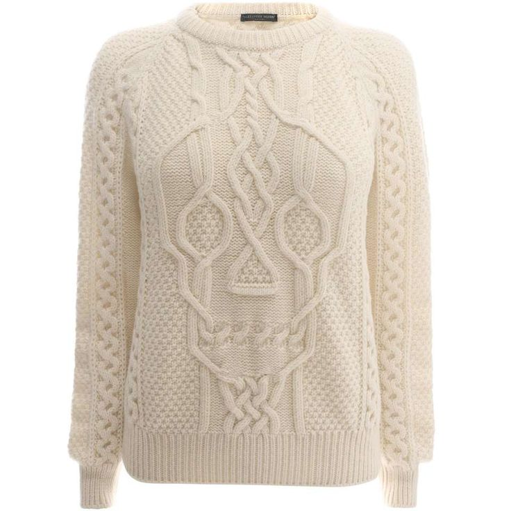 Drawing with your knitting!  Alexander McQueen Aran Skull Knit Jumper