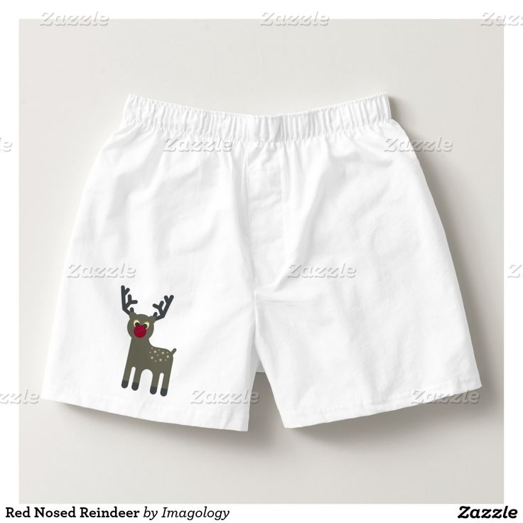 Red Nosed Reindeer Boxers