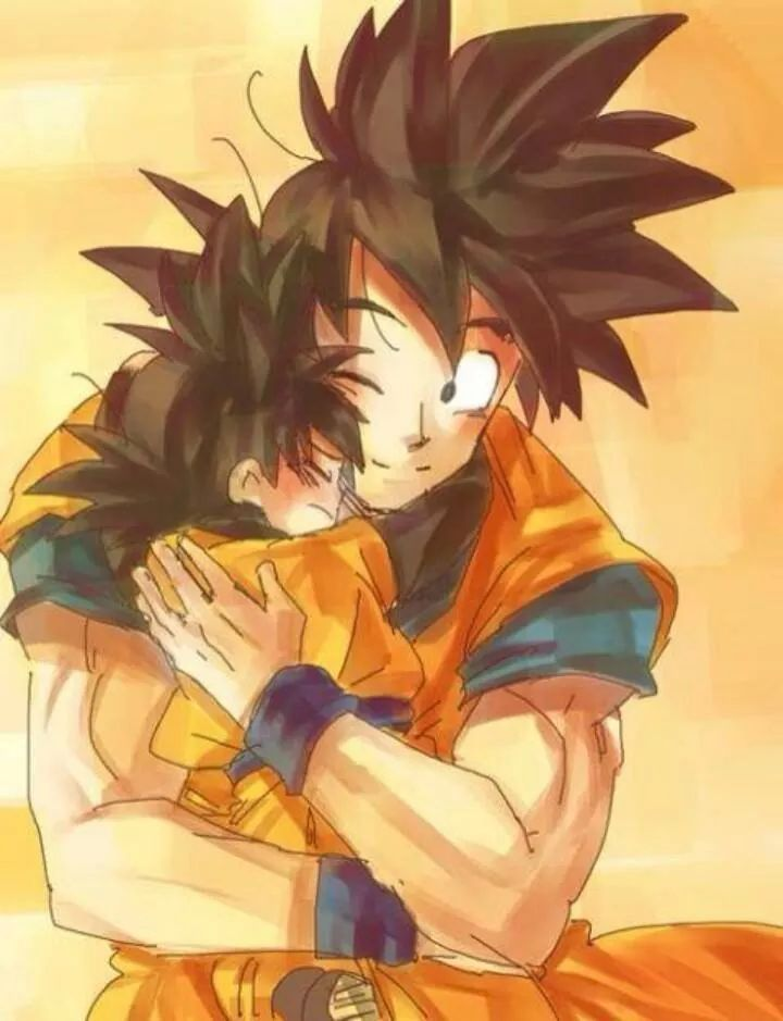 Dragonballz goku goten father son n n anime - Dragon ball z goku son ...