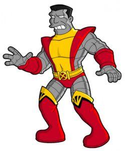 67-x-men-Colossus-66 personajes y celebridades versión Simpsons