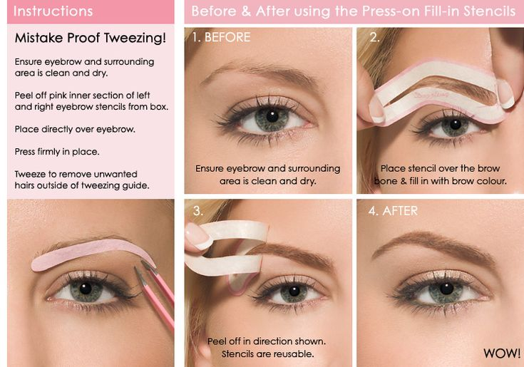 These eyebrow stencil and makeup kits are pretty sweet ...