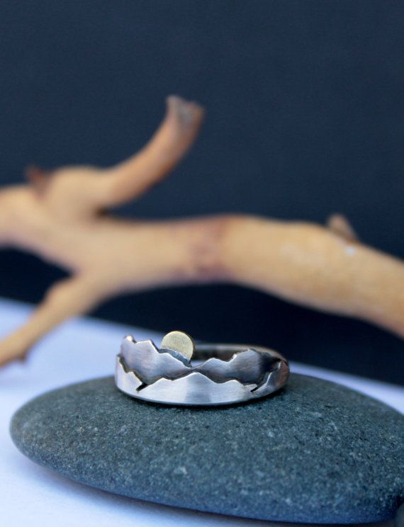 cool Mountain Ring Mini Sterling Silver Mountains Ring