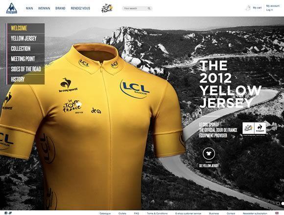 E-commerce Sites: Le Coq Sportif & Le Tour de France 2012