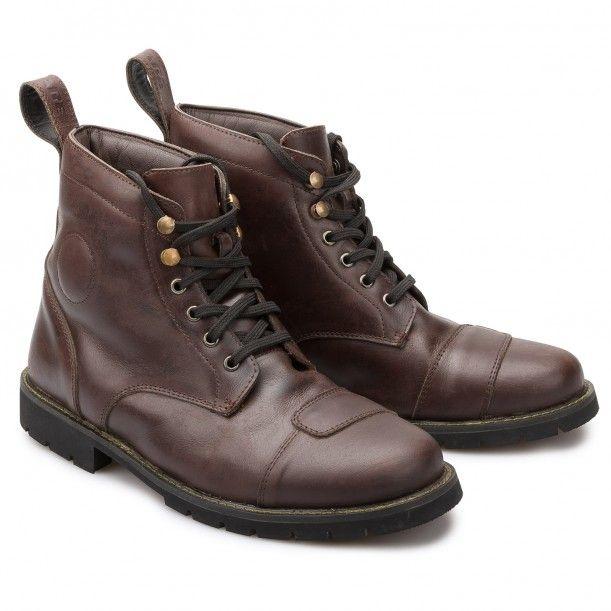 Speedware Vintage Schnürschuh dunkelbraun - Motorradschuhe - Schuhe &  Stiefel - Bekleidung