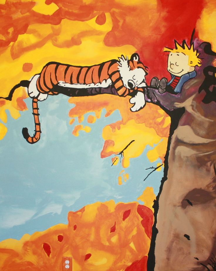 Calvin and Hobbes mural