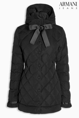Armani Jeans Black Smart Quilted Jacket