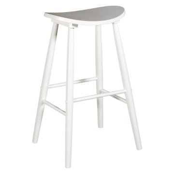 linon curve backless bar stool white 29 in