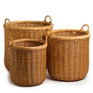 Grandma taught us to use wicker baskets instead of plastic trash cans.