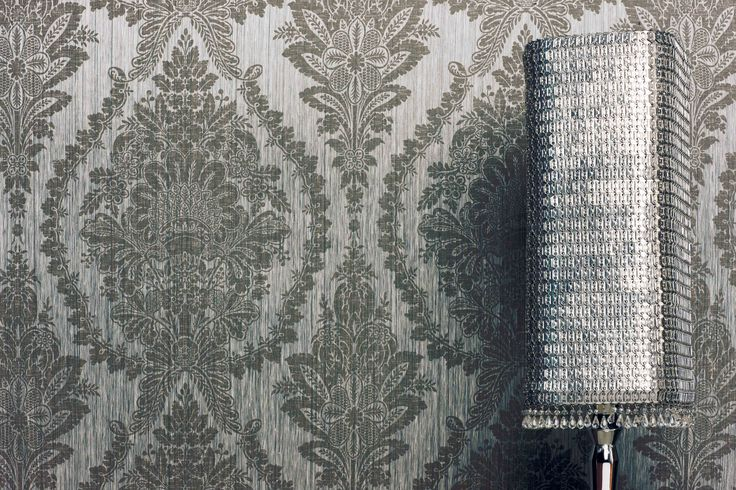 Damask cloth variant printed with natural pigments