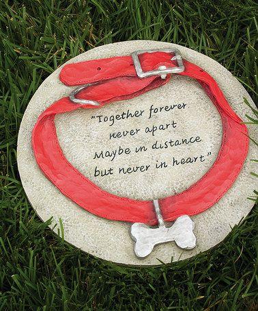 Another great find on #zulily! Dog Collar Garden Stone #zulilyfinds