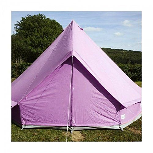 Boutique Camping Pastel Lilac Bell Tent With Zipped in Ground Sheet 4 Metre