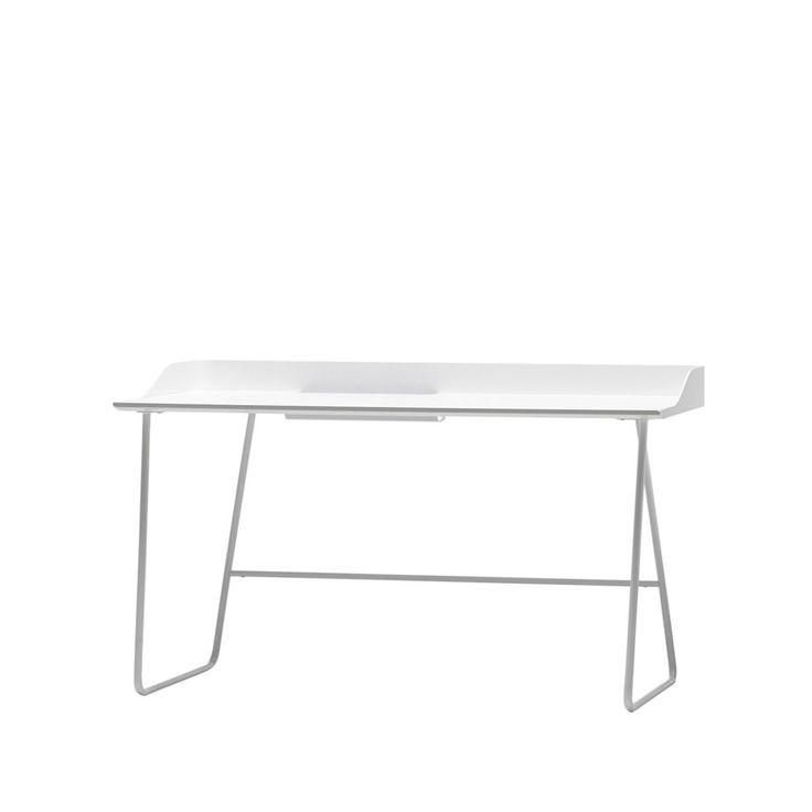 Overtime skrivbord - Overtime skrivbord - vit, 138 cm