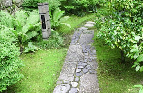 Reclaimed stone used for a pathway.  Very nice pattern using large and smaller stones.