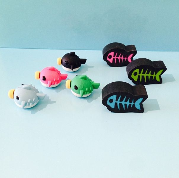 Yikes, swim faster chaps the zombies are gaining... #halloweenfun  See the pufferfish here: https://www.tinc.uk.com/products/scented-pufferfish-erasers-multi/