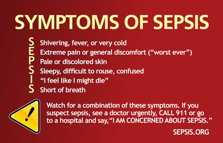 It's important to look for the warning signs of sepsis. Spotting these symptoms early could prevent the body from entering septic shock, and could save a l
