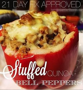 21 Day Fix Recipes, including quinoa stuffed peppers