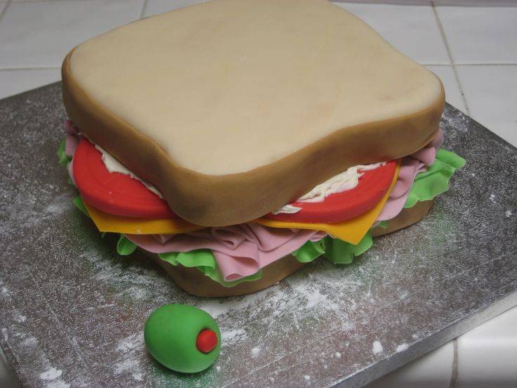 Image result for bacon sandwich birthday cake