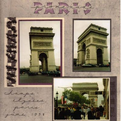 17 best images about scrapbook pages for europe trip on - Boutique scrapbooking paris ...