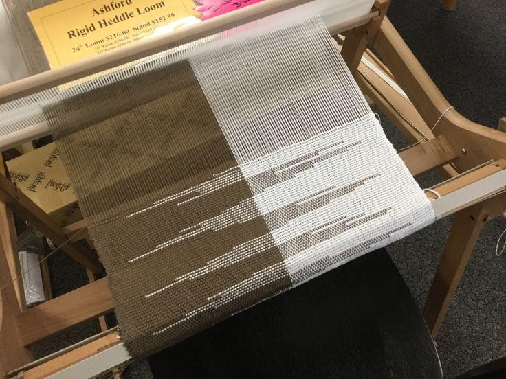 Clasped Weft on Ashford Rigid Heddle loom
