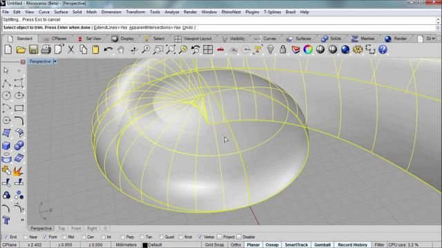 Modeling a scroll with Rhino by Rhino Tutorials. In this Rhinoceros video tutorial you'll learn to model a simple scroll form like those you might see in fine woodwork or on jewelry. The v5 beta of Rhino is used in this video and can be downloaded from www.Rhino3D.com using your v4 license.